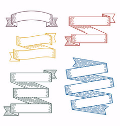set design elements banners ribbons vector image