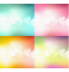 Set of bokeh abstract light background vector