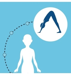 silhouette woman healthy yoga vector image