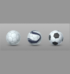 sport ball realistic football equipment 3d vector image