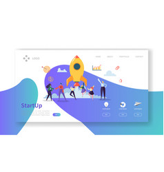 startup business landing page new project vector image