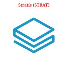 Stratis strat logo vector