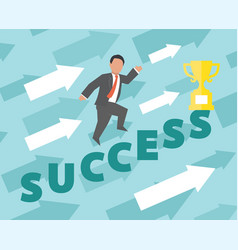 success concept business vector image