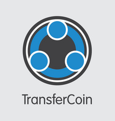 Transfercoin crypto currency coin vector