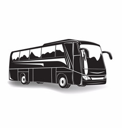 Travel bus icon vector