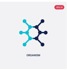 Two color organism icon from general concept vector