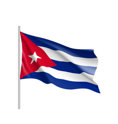 Waving flag cuba vector