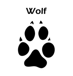 wolf footprint vector image