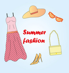 clothes set summer fashion vector image