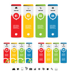 infographic set with symbol in black color set vector image