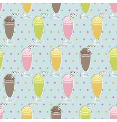 milkshake pattern vector image vector image