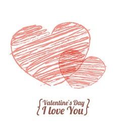 Valentine love heart vector image