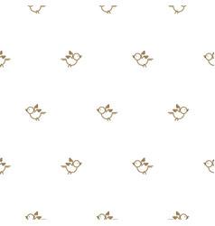 vintage thin line bird seamless pattern vector image
