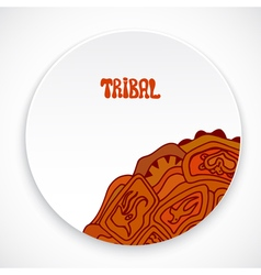 White plate with a print style tribal isolated vector image