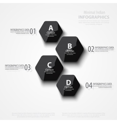 abstract polygons background vector image