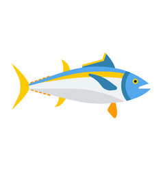 blue tuna fish icon vector image vector image