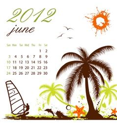 calendar for 2012 june vector image vector image