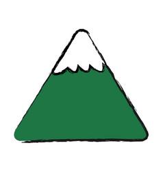 cartoon mountain snow nature image vector image
