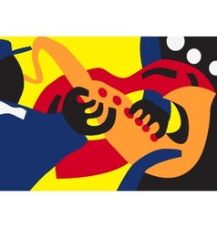 jazz man vector image