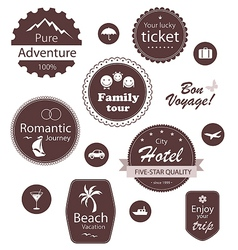 Travel and vacation emblems set vector image vector image
