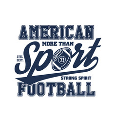 american football stylized vector image vector image