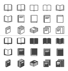 Book thin icons vector image