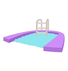 Pool icon cartoon style vector image