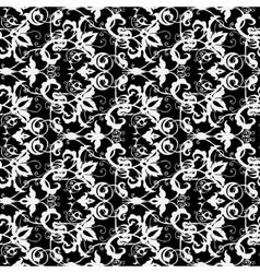 Background vintage flower Seamless floral pattern vector image