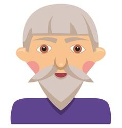Cartoon elderly man vector image vector image