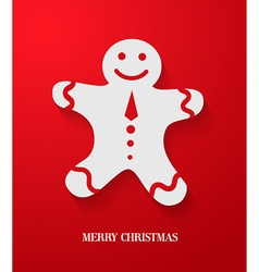 Christmas card with gingerbread vector image