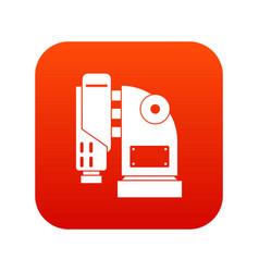 Pneumatic hammer machine icon digital red vector