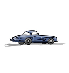 Retro sport car sketch for your design vector image
