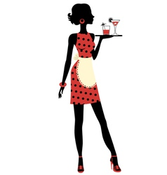Waitress vector image vector image