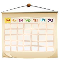 A calendar vector image