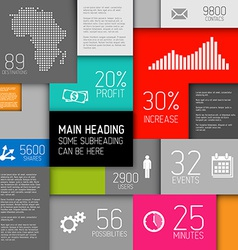 Abstract squares background infographic te vector