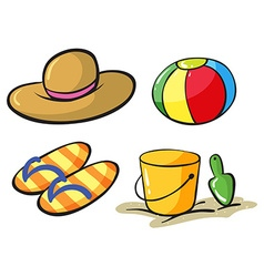 Beach objects vector