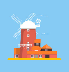 beautiful windmill at cley in norfolk vector image