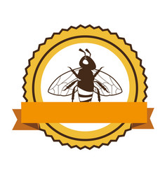 bee natural product icon vector image
