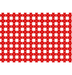 cell pattern made of red heart-shaped clovers vector image