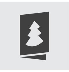 Christmas card icon vector image