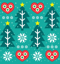 christmas seamless pattern - scandinavian vector image