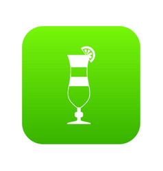 cocktail icon digital green vector image