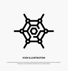 Decentralized network technology line icon vector