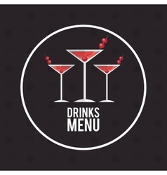 drink menu alcoholic cocktail manhattan vector image