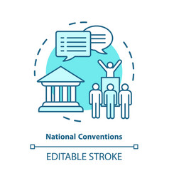 Elections concept icon organised national vector