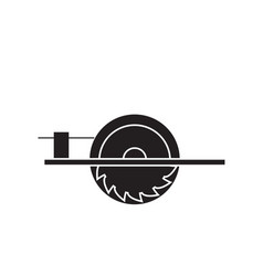 electric saw black concept icon electric vector image