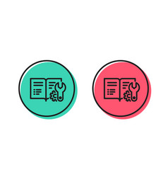 engineering documentation line icon technical vector image