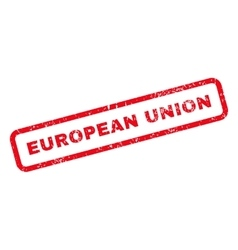 European Union Text Rubber Stamp vector