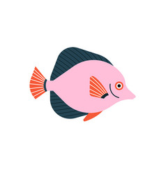 Fish isolated on white background handdrawn vector