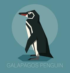 Flat galapagos penguin vector